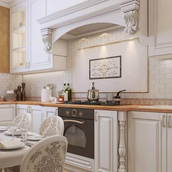 классическая кухня белая