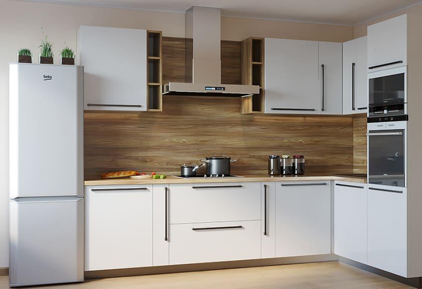 Леруа - белая кухня в скандинавском стиле