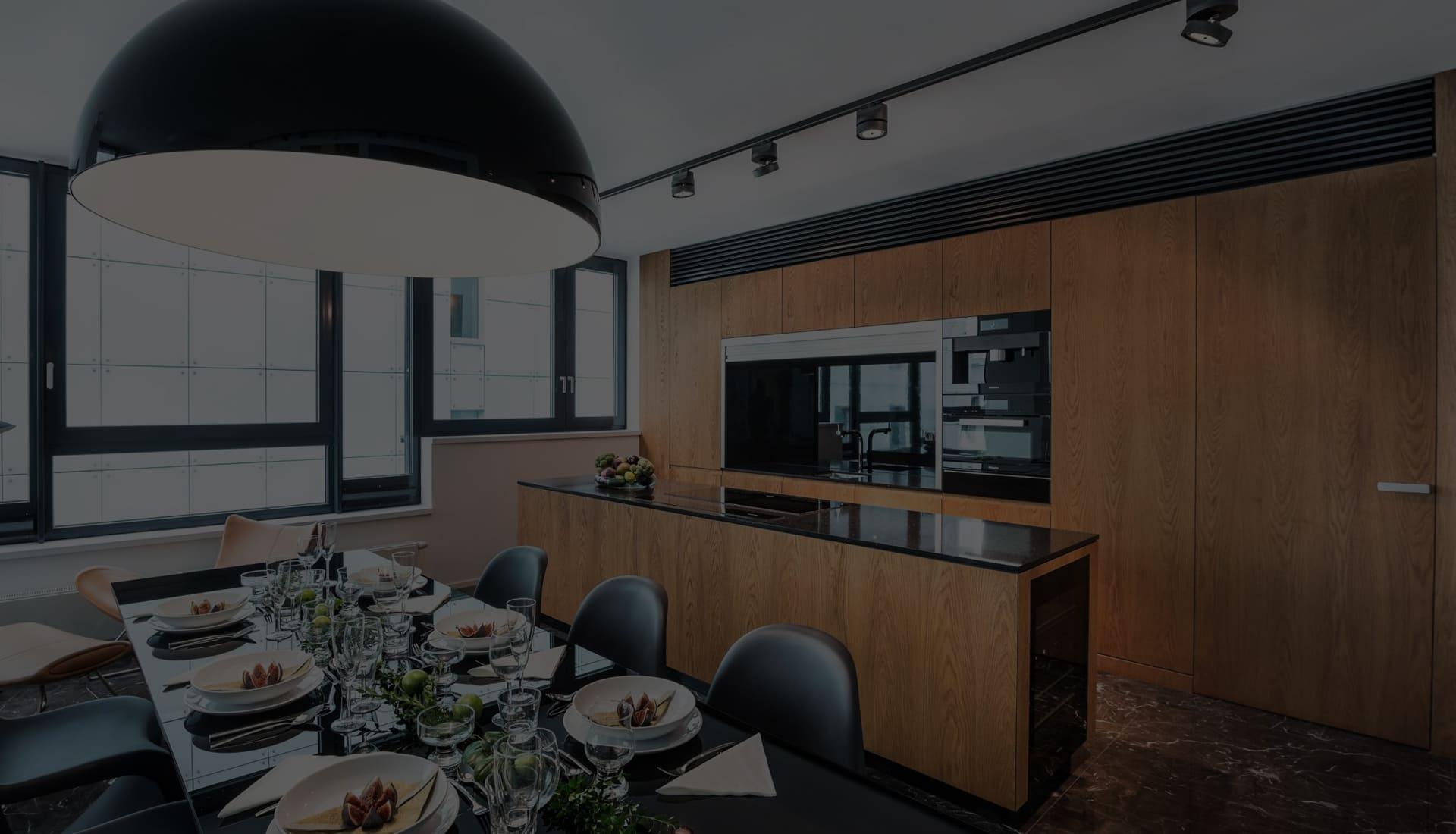 дорогая современная кухня