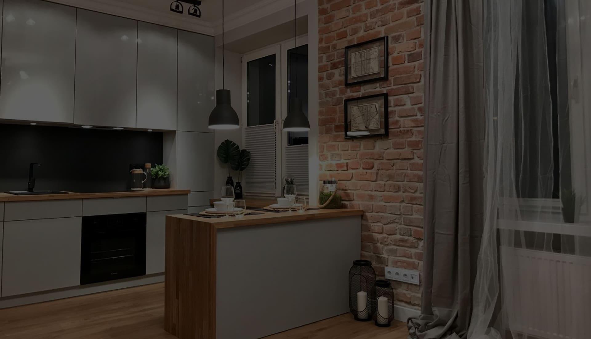 современная серая кухня