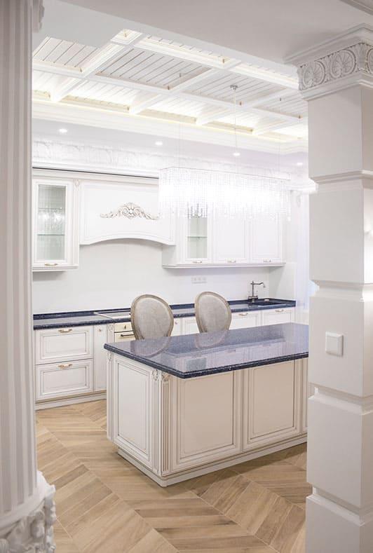 белая классическая кухня от производителя
